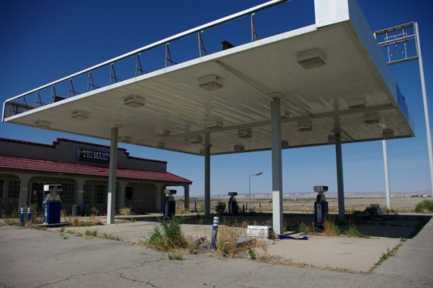 There are a surprising number of out of business gas stations.