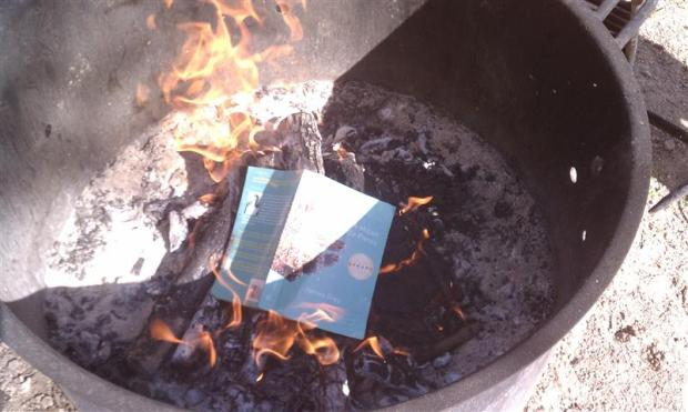 Woops, I dropped my book!