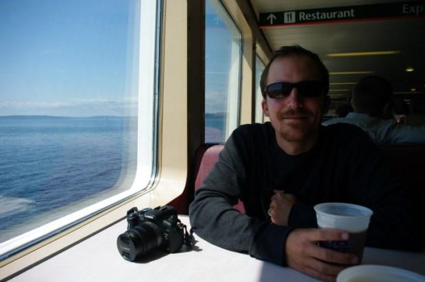 Enjoying a Red Hook ESB on the Bainbridge Island Ferry.