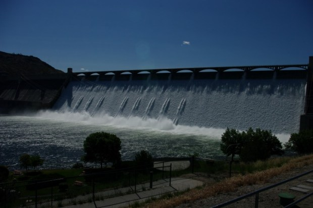 One of the largest masonry structures in the world: Grand Coulee Dam.