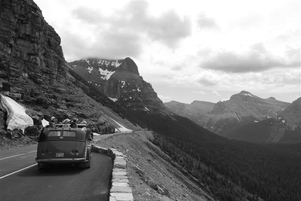 Jammin' in Glacier / Avoid driving on the roads / Or write a poem.