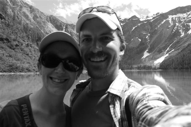 Avalanche Lake, happy travelers.