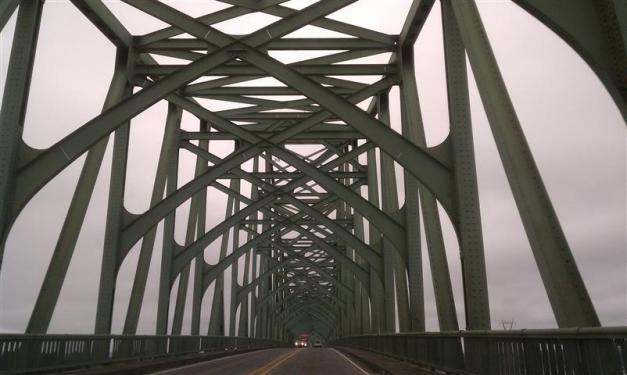 Paul got this shot as we drove across one of the gothic-looking bridges.