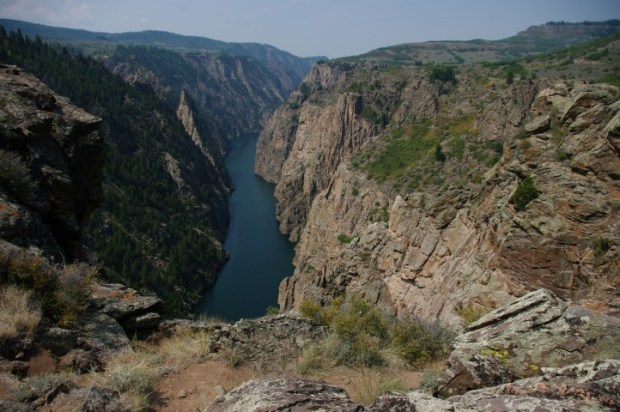 A look at the Gunnison upriver -- between the first and second dams.