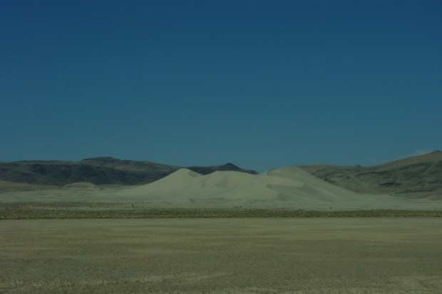 Sand Mountain, east of Fallon, NV.