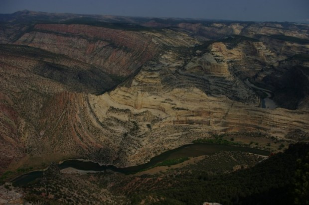 A closer look at the canyons.