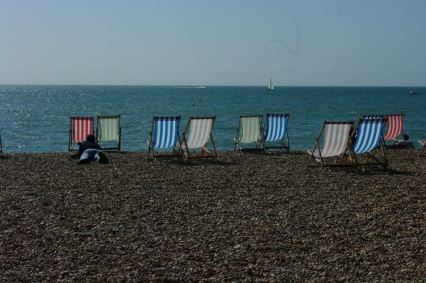 There's something about the way the light shines through these beach chairs -- it makes me feel warm and summery.