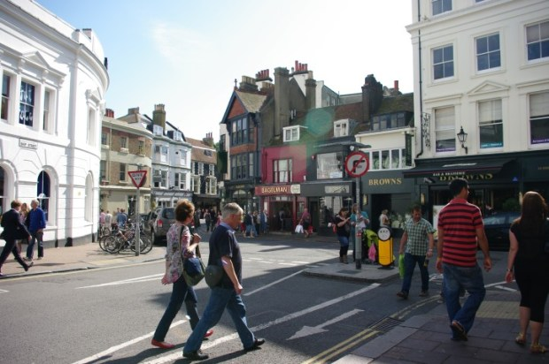 The Lanes, a cute area filled with twisting streets and shops.