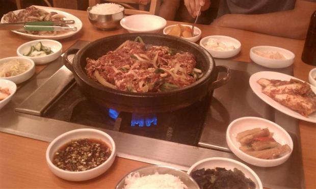 Hot and tasty Korean food.