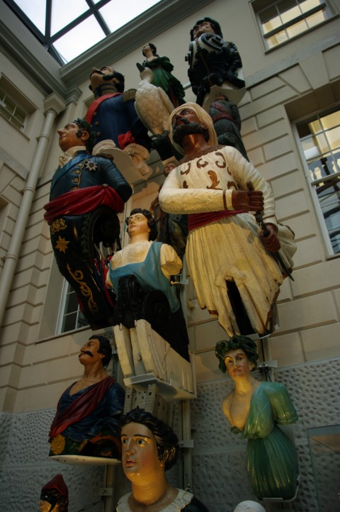 The wall of figureheads.