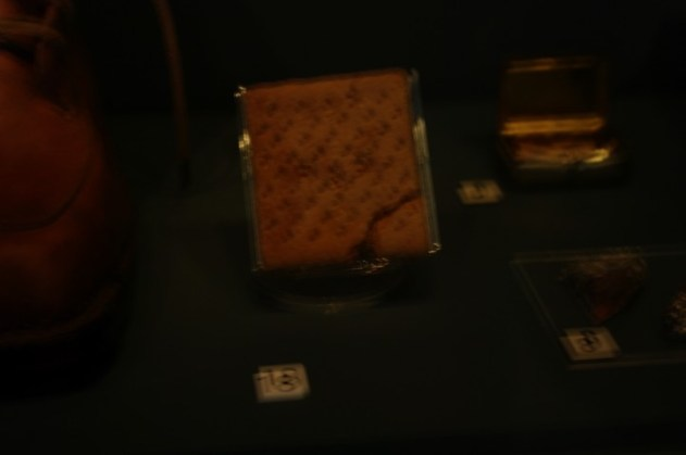 The immortal biscuit (I imagine the lighting is kept low to prevent biscuit damage).