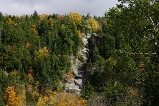 Roaring Brook Falls from the road. Get closer.