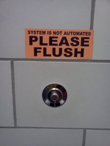 Typically that's what the flush button means.