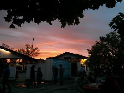 The sun sets on another Oktoberfest.