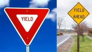 what does a yield sign mean