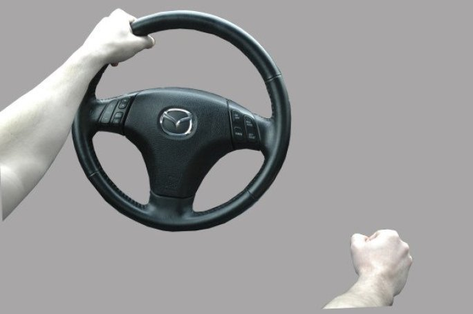Steering wheel driving