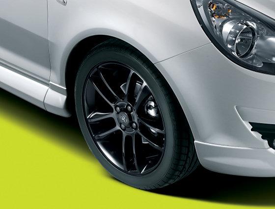 Vauxhall Corsa Black Alloys