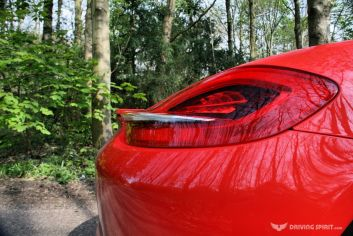 Porsche Boxster 981 Rear Lights, Spoiler Down