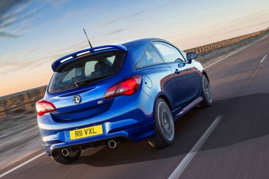 2015 Vauxhall Corsa VXR Rear Tracking