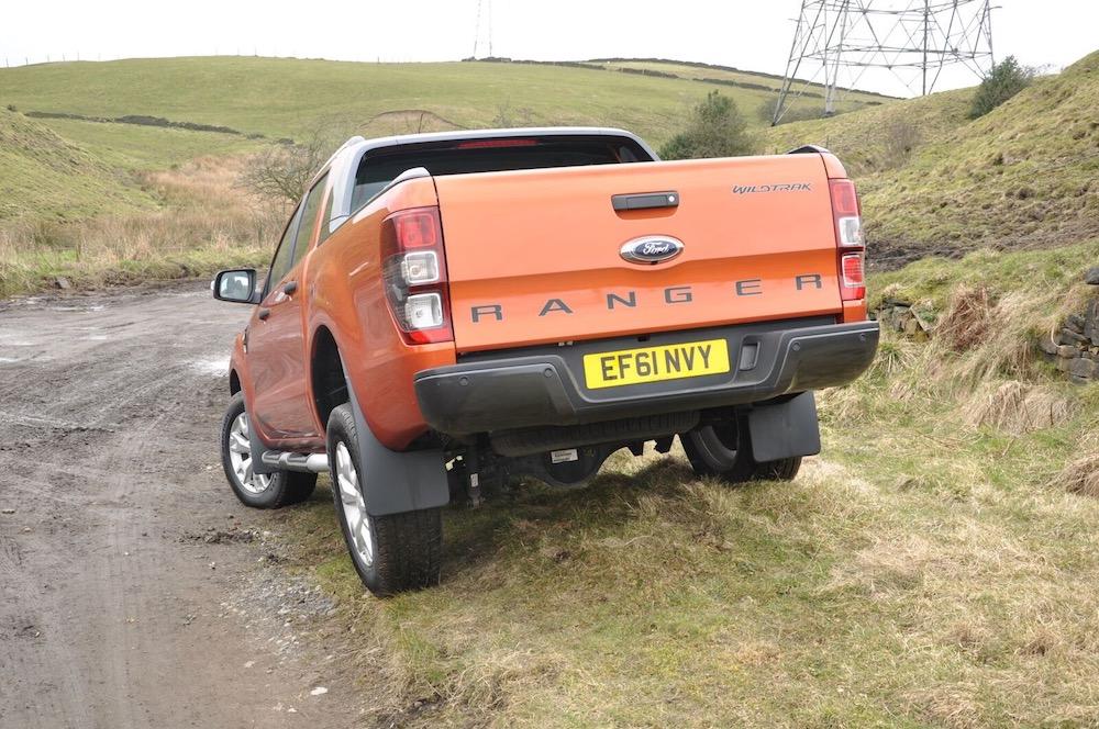 Ford Ranger Wildtrak Orange rear side