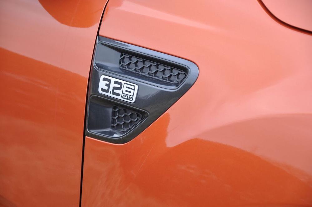 Ford Ranger Wildtrak side grille