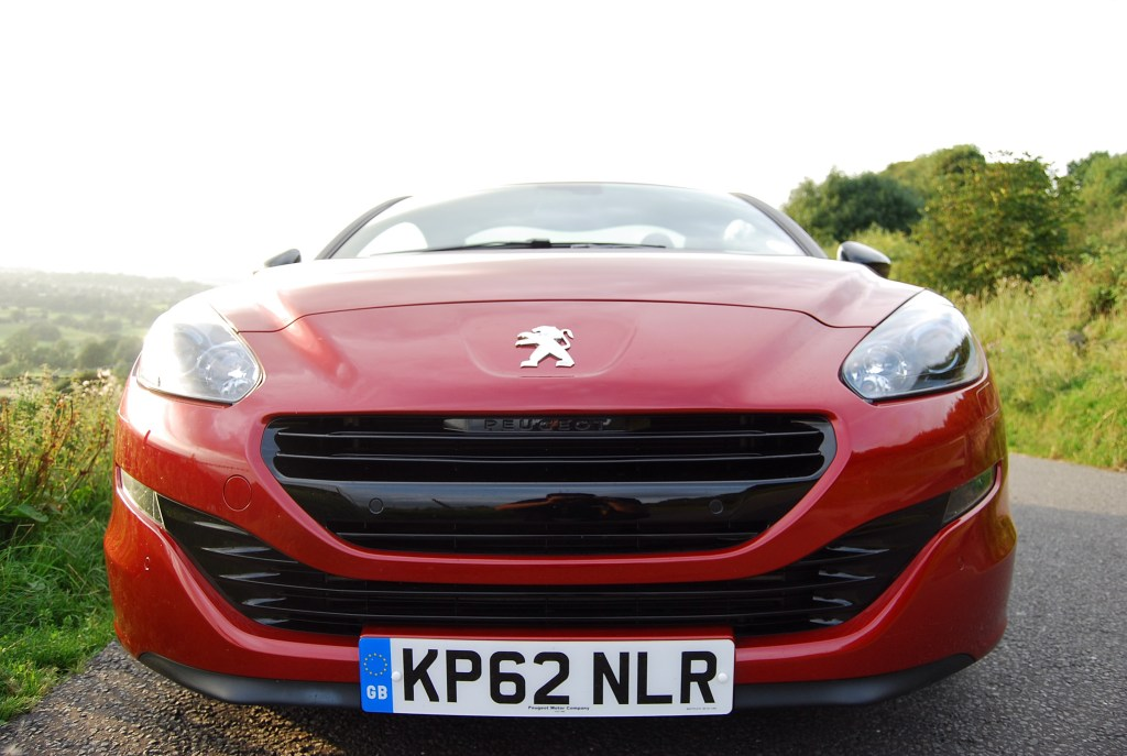 Note the new - non silly mouth peugeot rcz gt