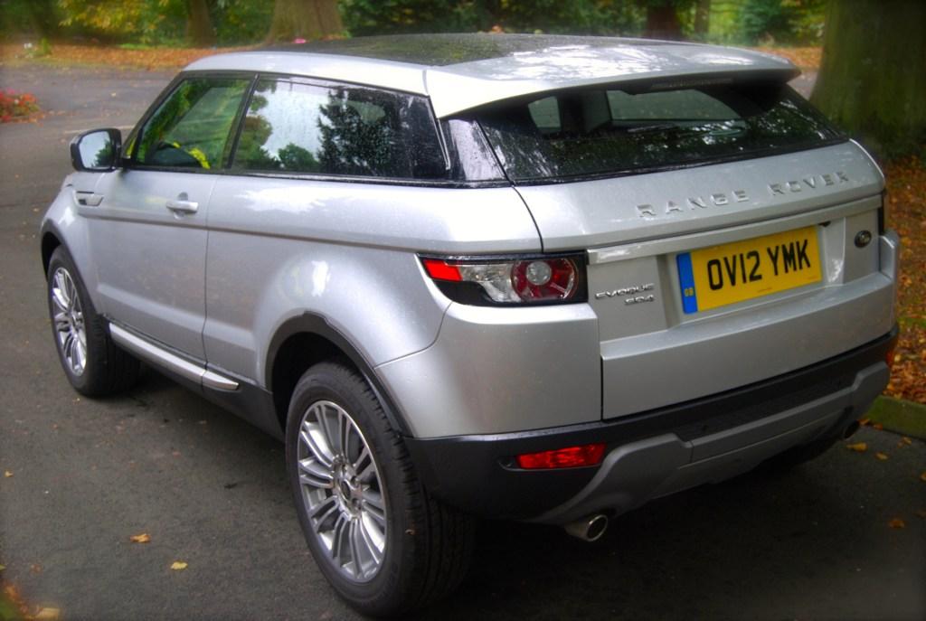 Range Rover Evoque coupe Rear corner