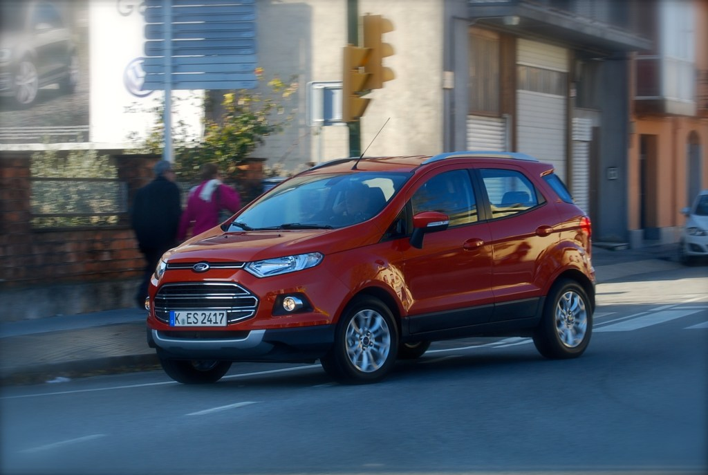 The Ford EcoSport looks at its best on the move