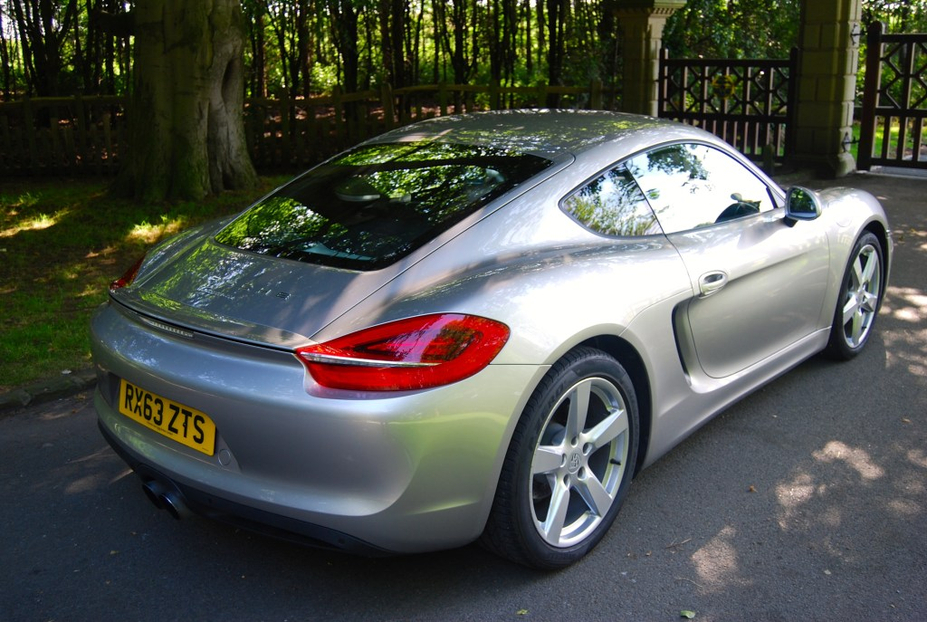 Porsche Cayman rear quarter