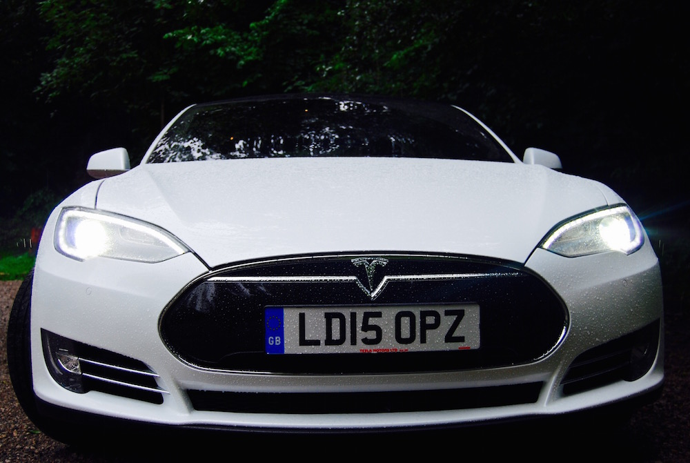 Tesla Model S white front