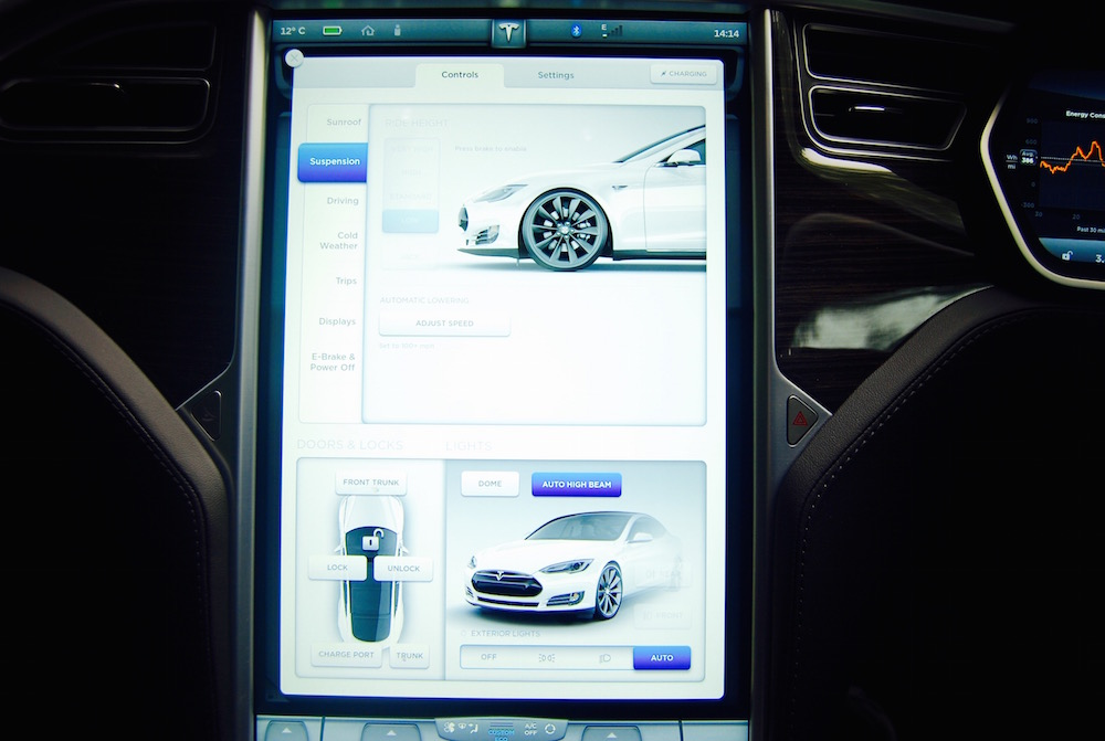 Tesla Model S central screen
