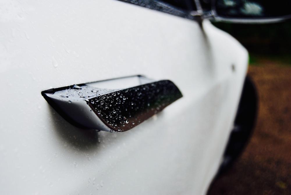 Tesla Model S door handle open