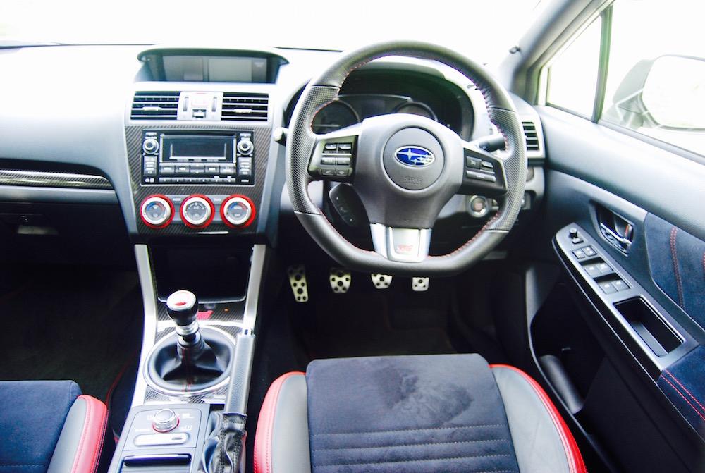 Subaru WRX STI cabin