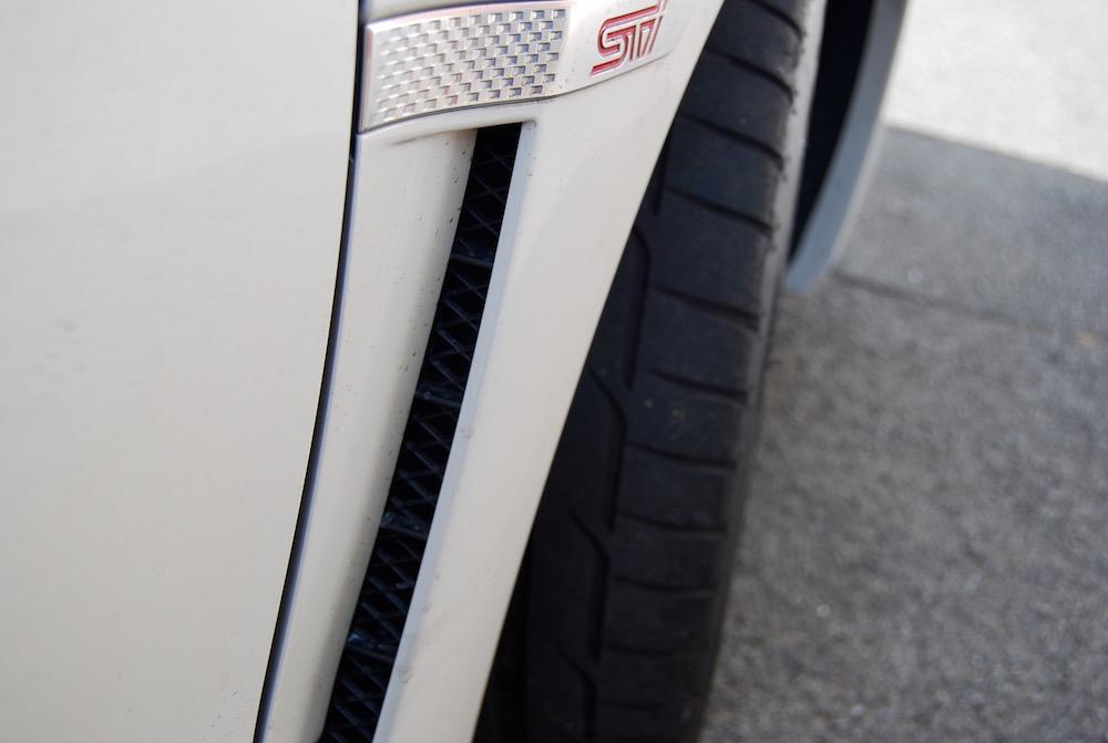 Subaru WRX STI white wheelarch