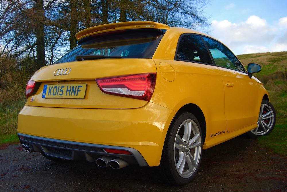 Audi S1 vegas yellow rear exhausts