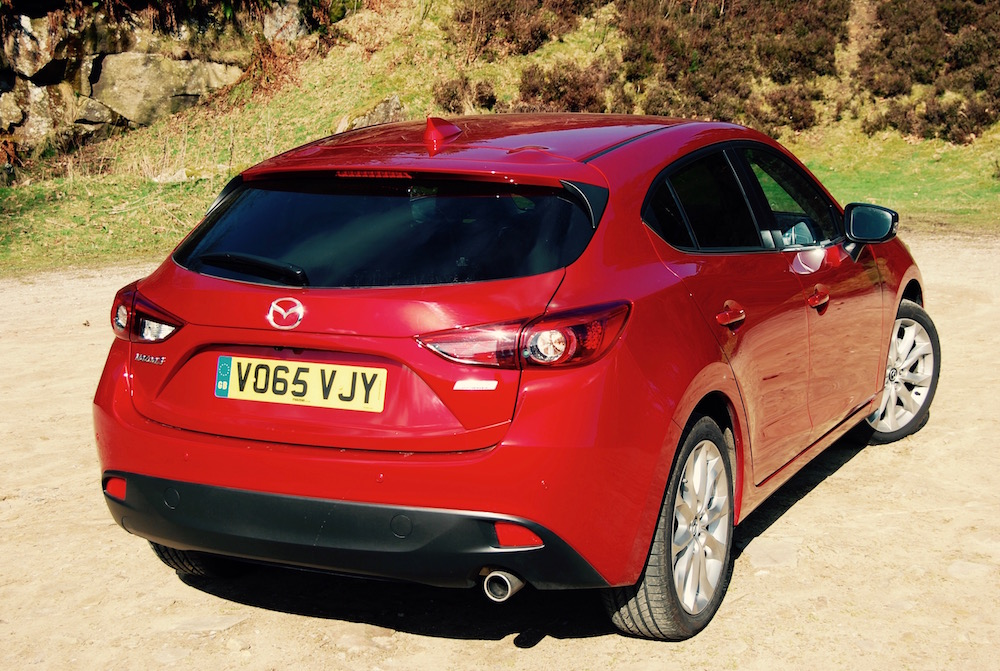 mazda 3 sport nav review red rear