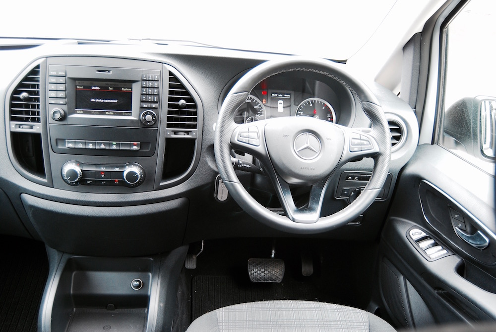 mercedes benz vito tourer interior cabin