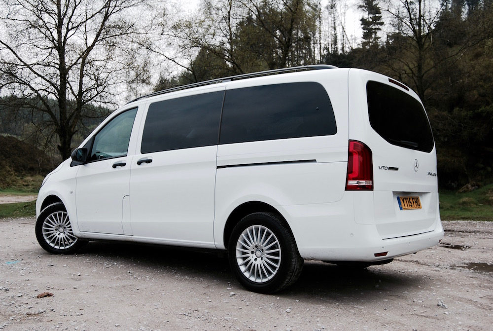 mercedes benz vito tourer side white