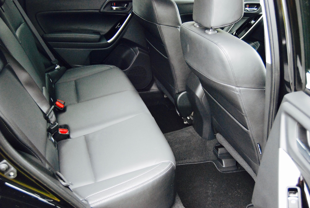 subaru forester xt rear seats review