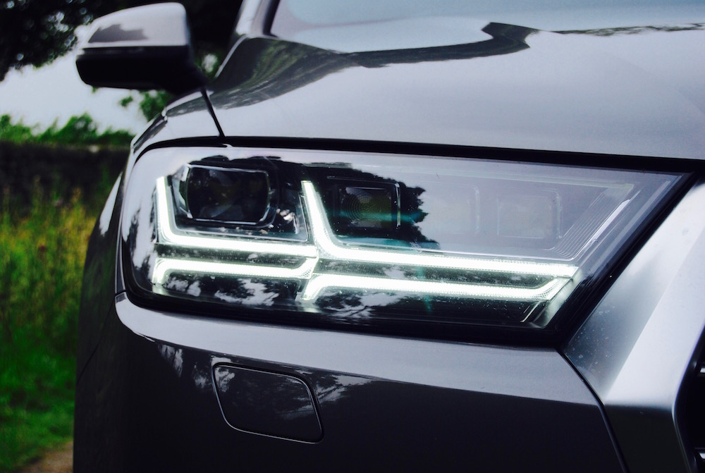 audi q7 led headlight review