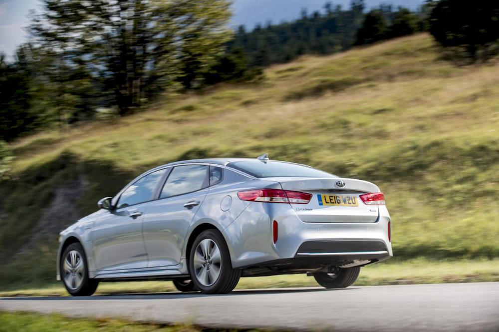 new kia optima phev hybrid review rear