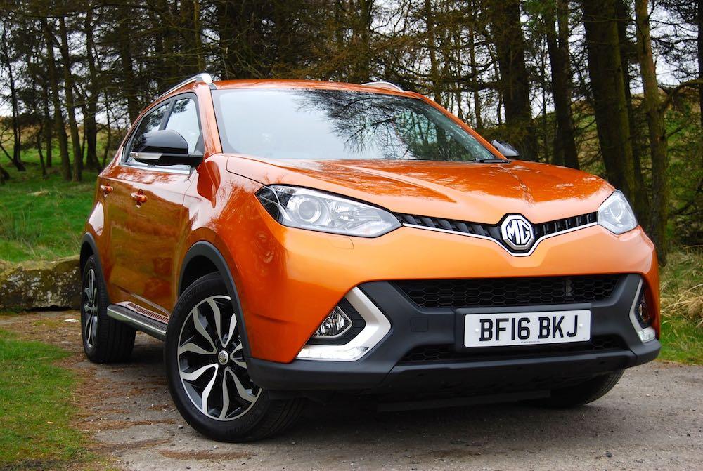 MG GS Orange front side