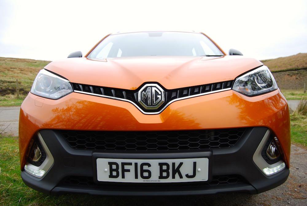 MG GS Orange front