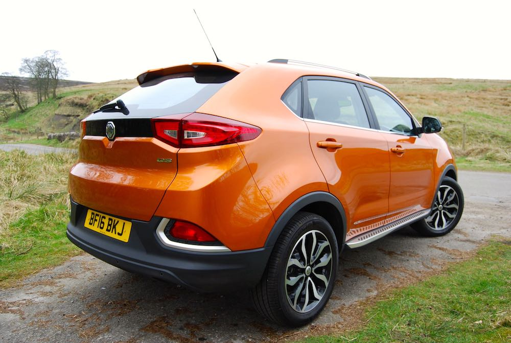 MG GS Orange rear side