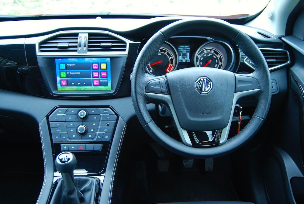 MG GS cabin interior