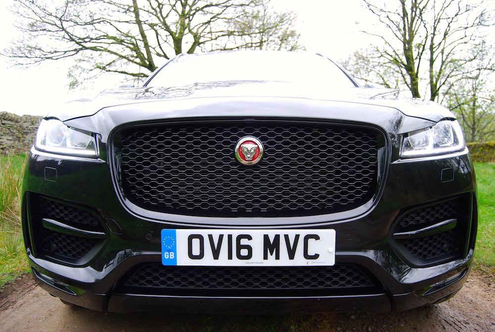 Jaguar F Pace front black