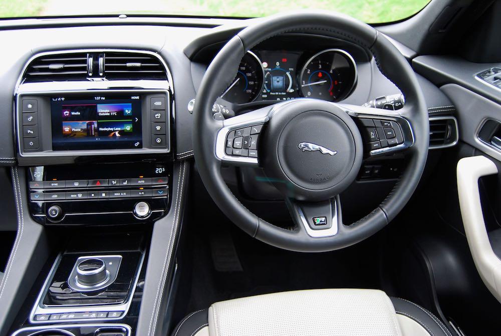 Jaguar F Pace interior - Driving Torque
