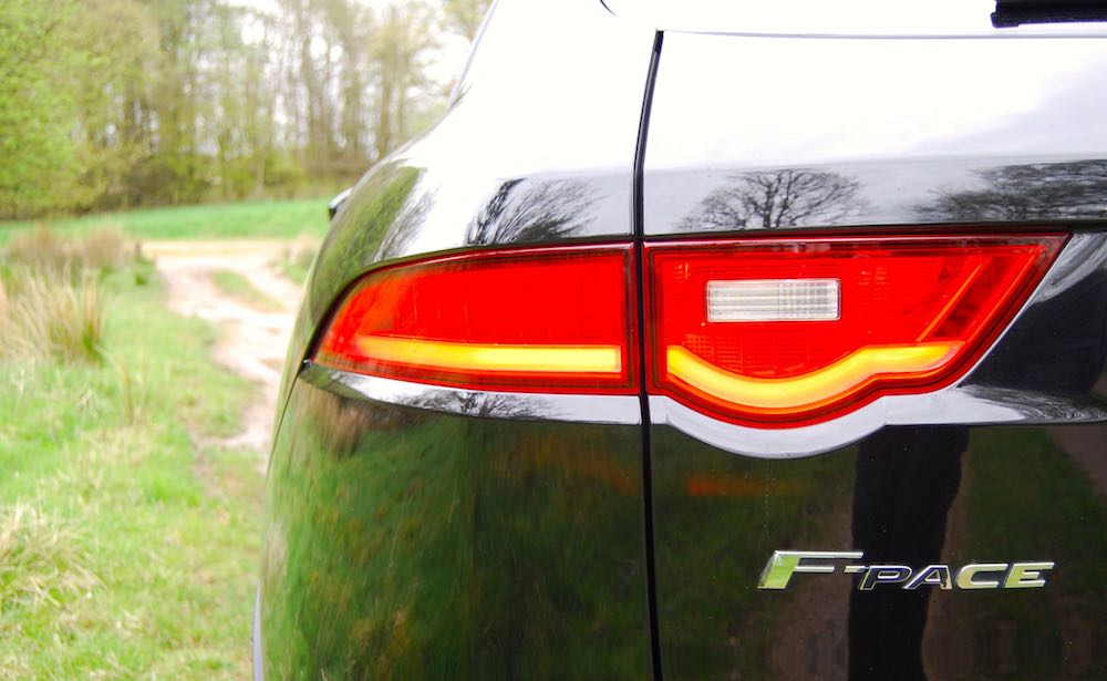 Jaguar F Pace rear light