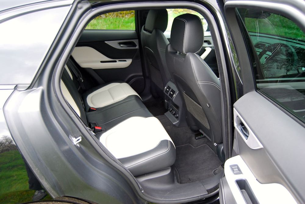 Jaguar F pace rear seats