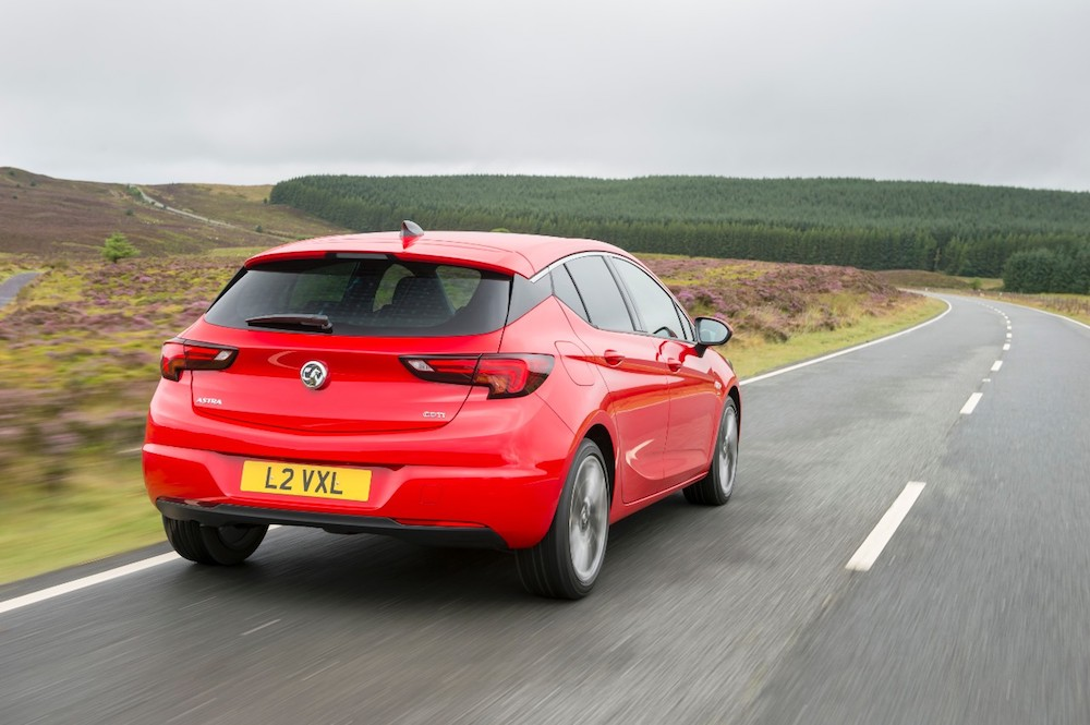 vauxhall astra rear red
